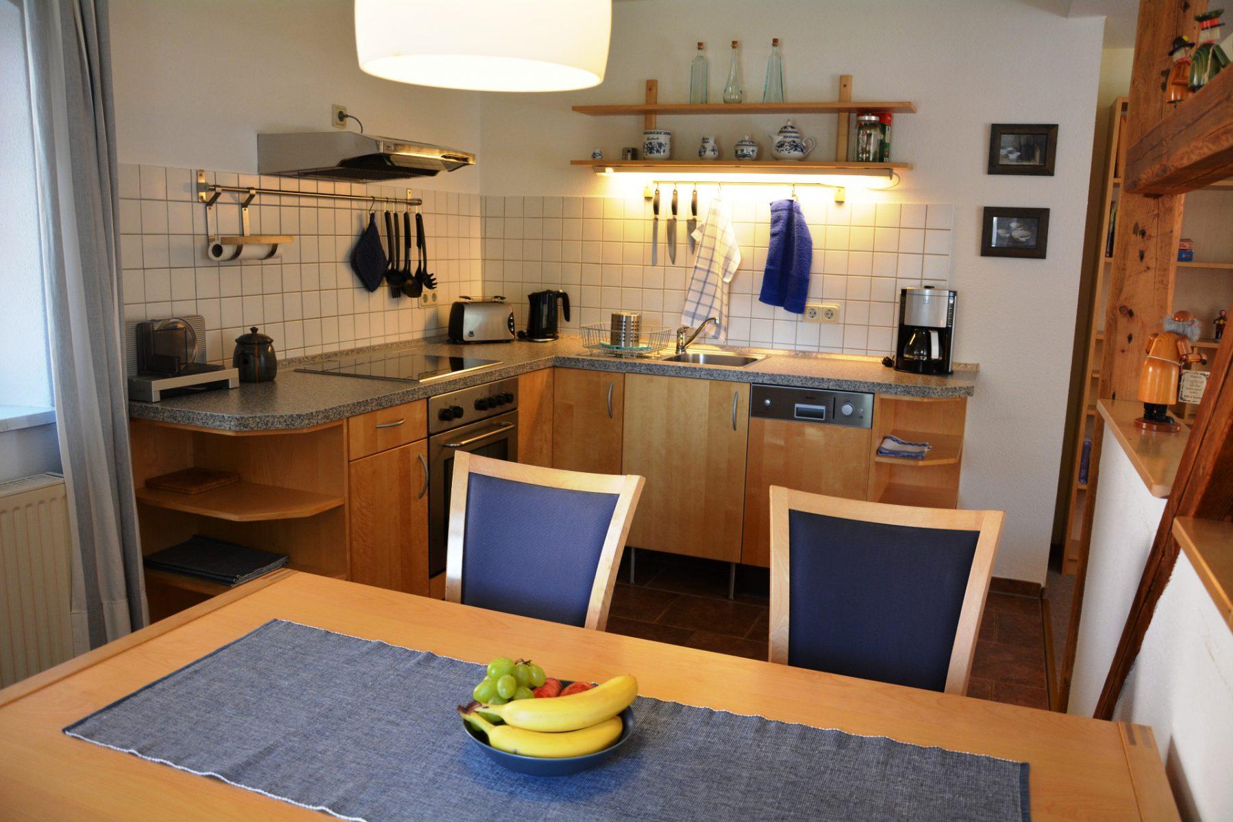 Ferienwohnung im Velegerhaus Seiffen Kategorie N5c Detail Küche