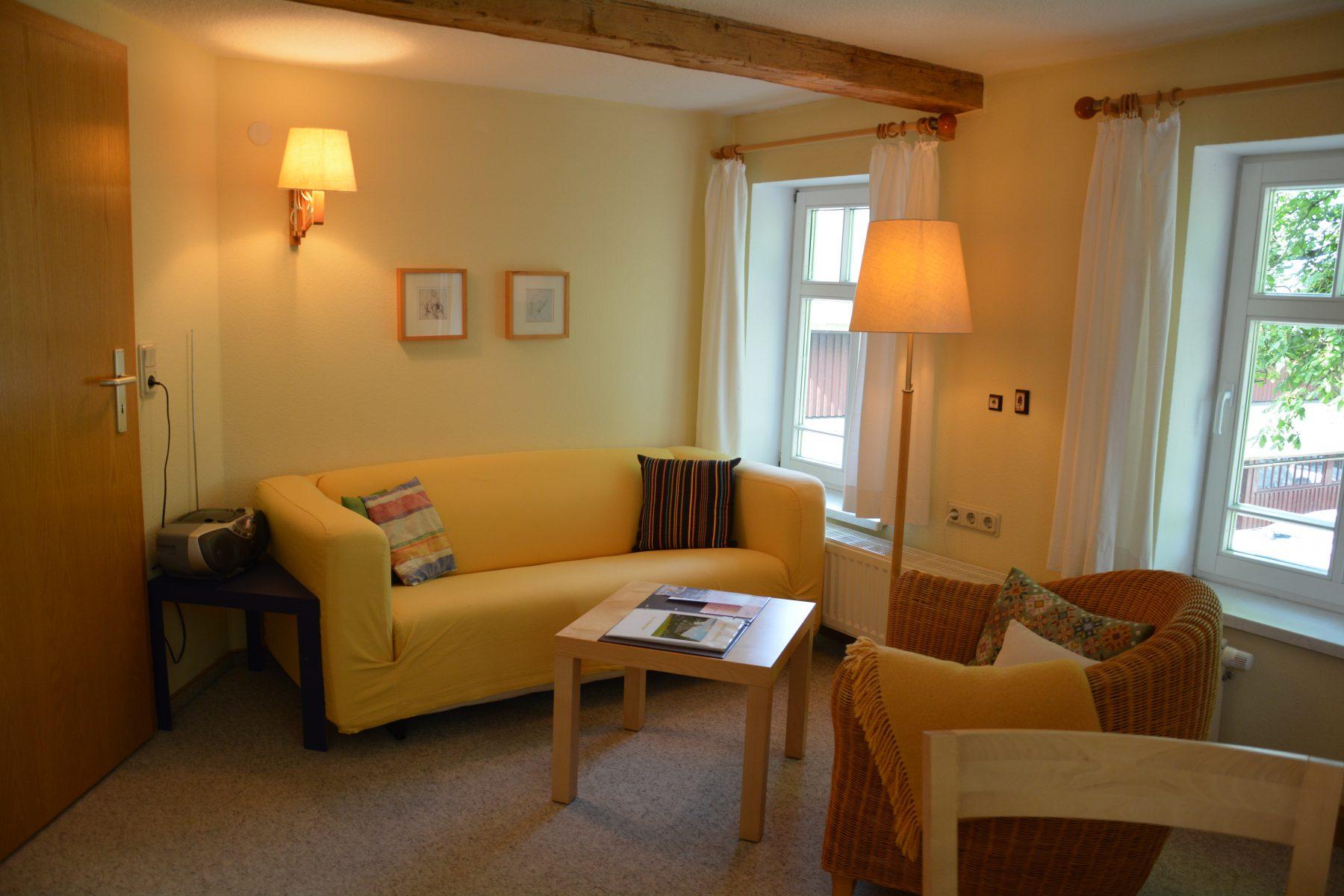Ferienwohnung im Verlegerhaus Kat N3a Detail Wohnzimmer