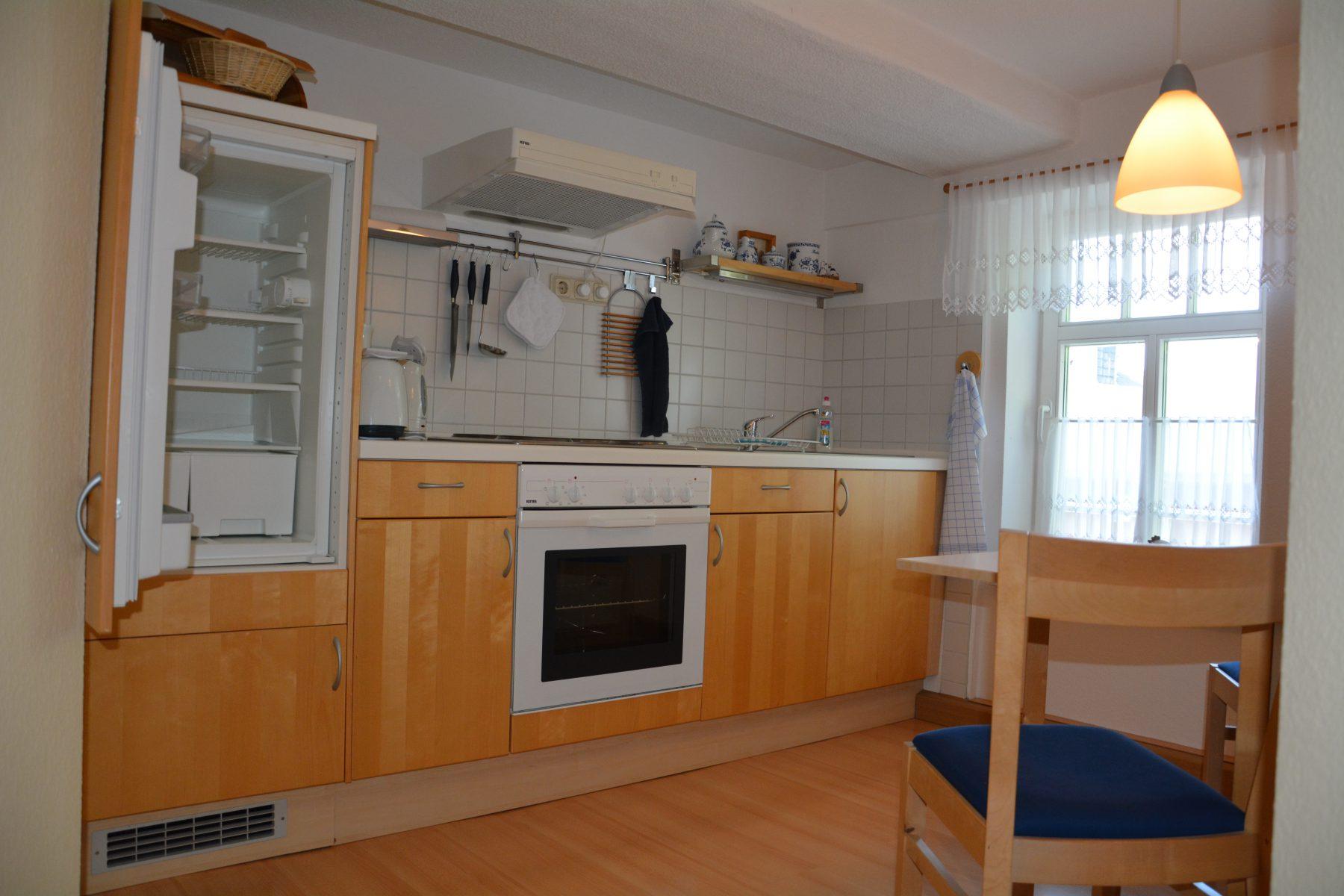 Ferienwohnung im Verlegerhaus Seiffen Kategorie N3a Detail Küche