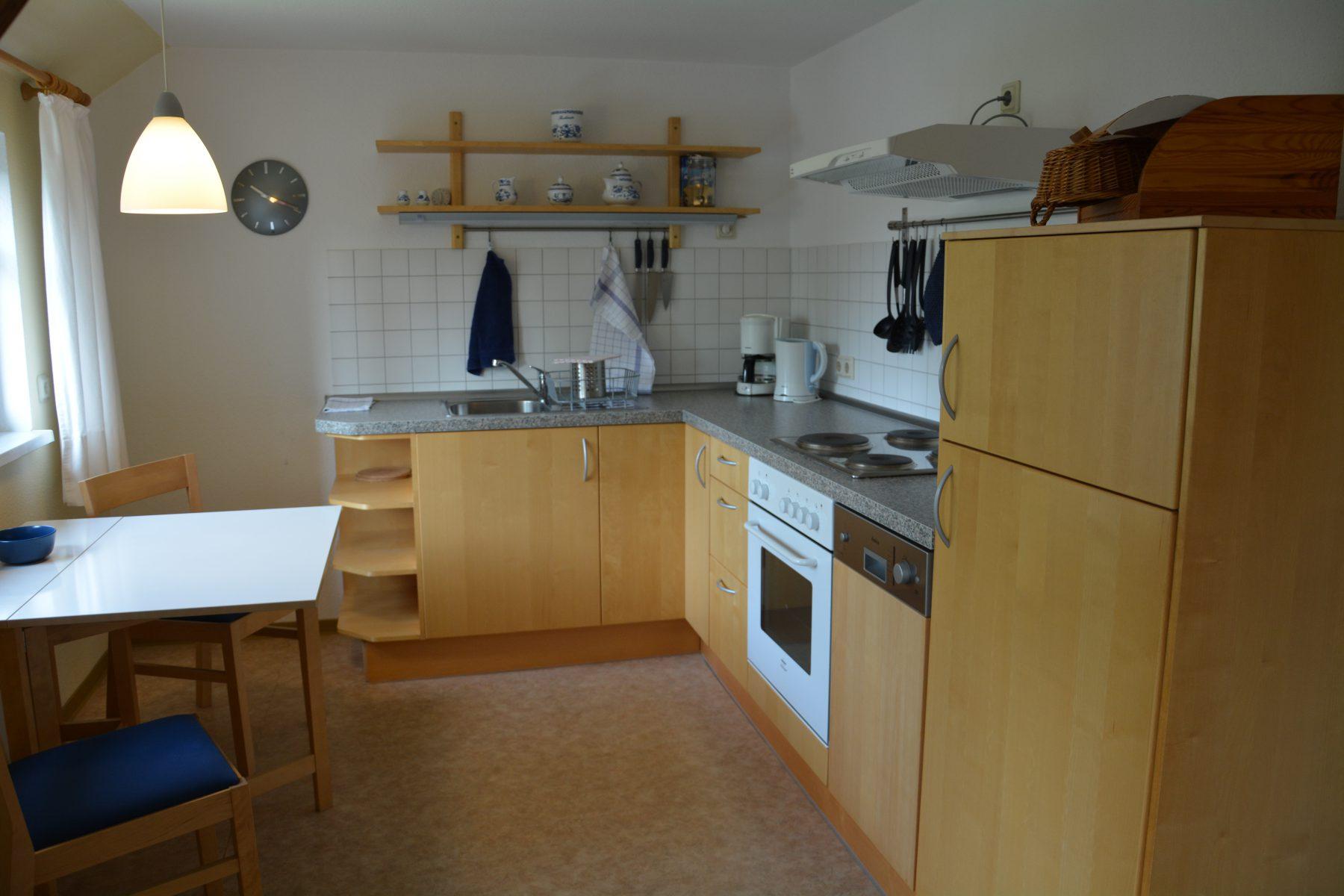 Ferienwohnung im Verlegerhaus Seiffen Kategorie N2b Detail Küche
