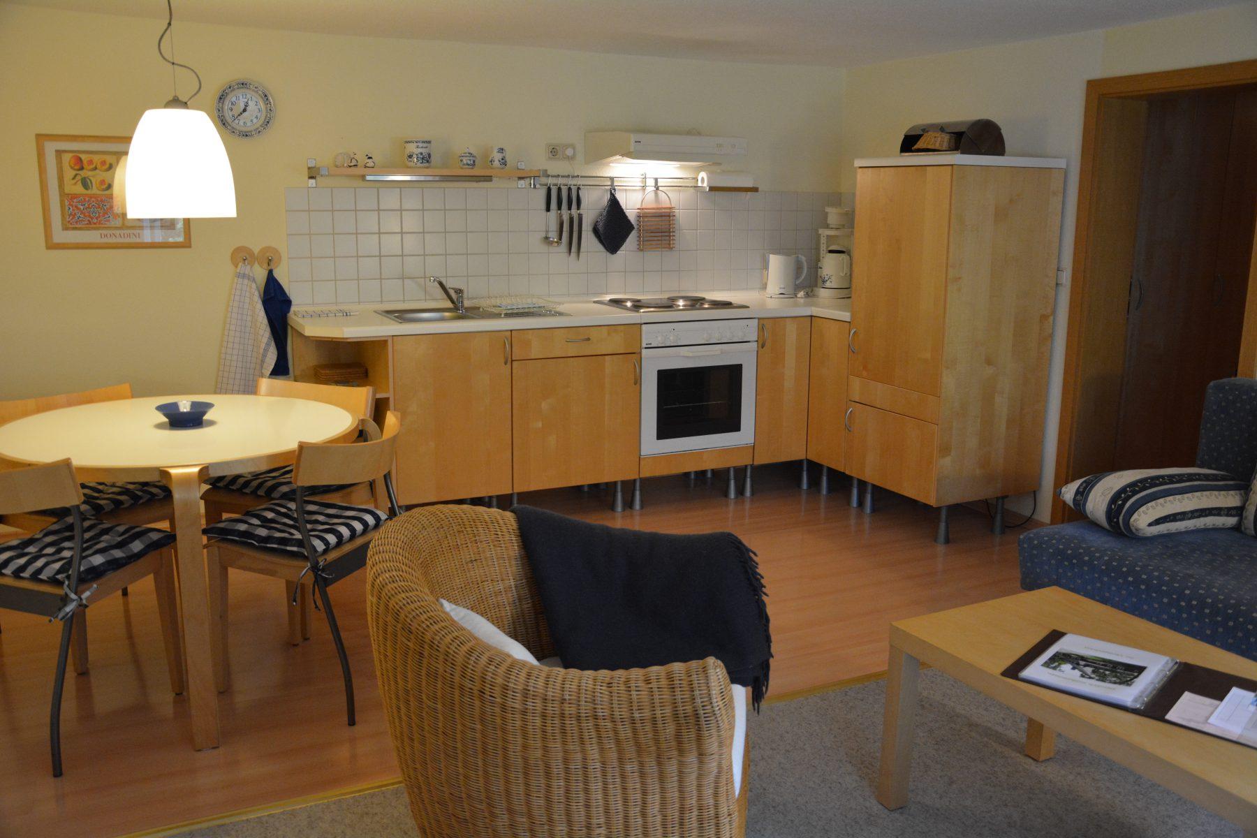 Ferienwohnung im Verlegerhaus Seiffen Kategorie N1a Detail Küche