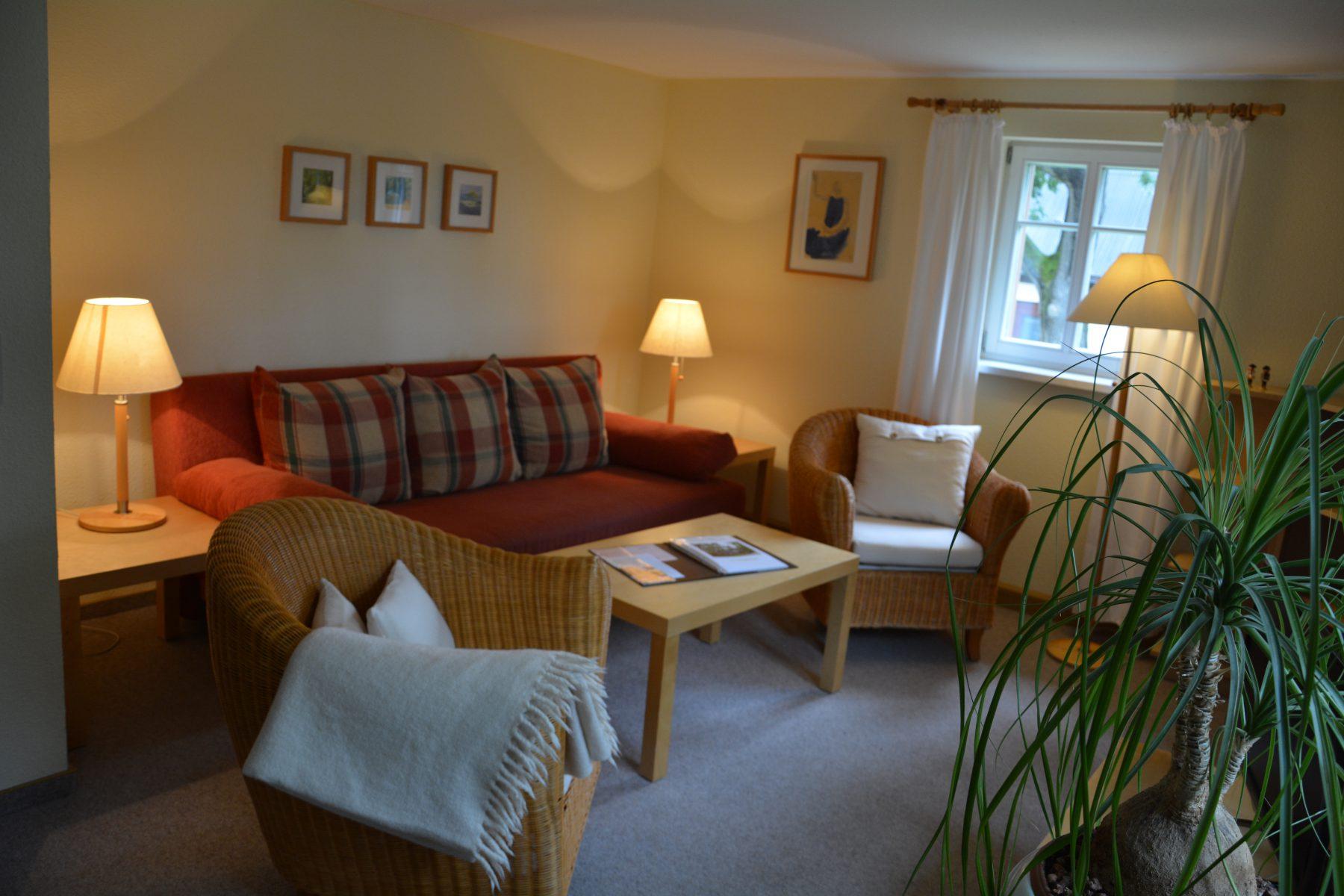 Ferienwohnung im Verlegerhaus Seiffen Kategorie N1c Wohnzimmer
