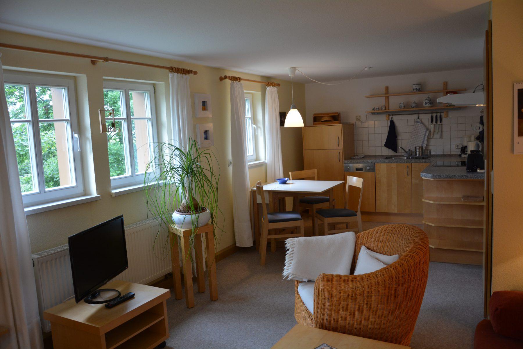 Ferienwohnung im Verlegerhaus Seiffen Kategorie N1c Küche