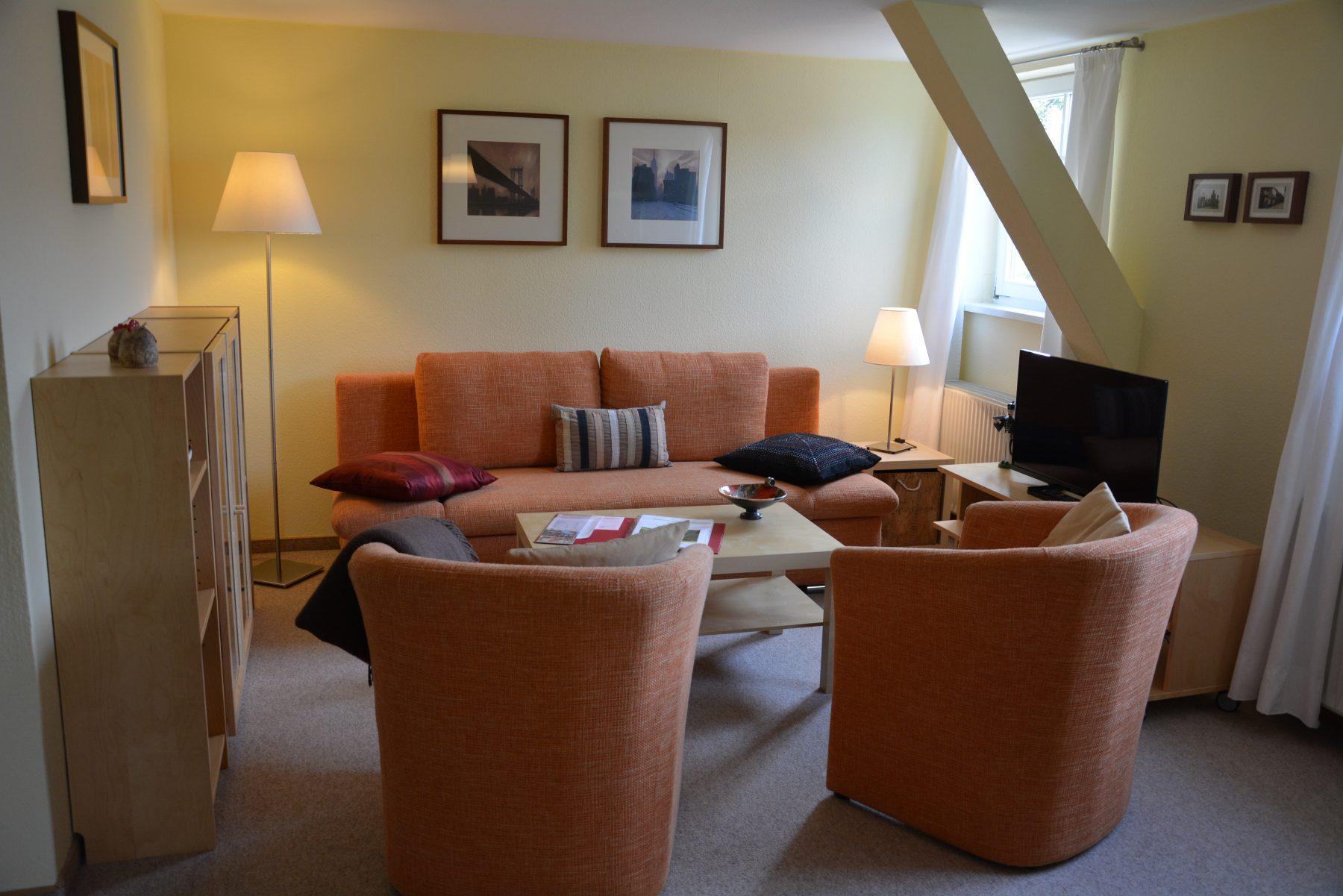 Ferienwohnung im Verlegerhaus Seiffen Kategorie N4 Wohnzimmer